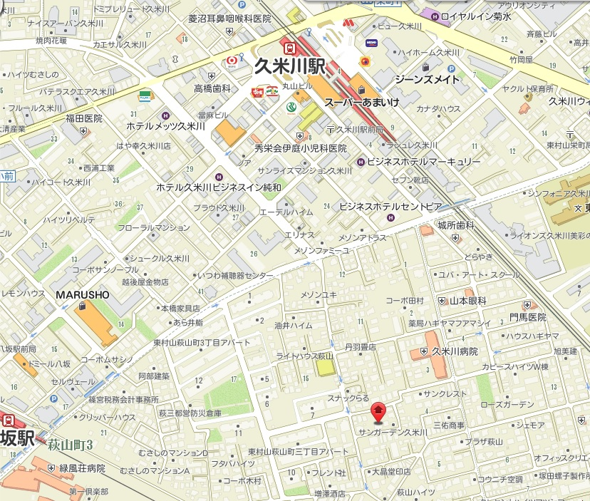 新築分譲住宅 全2棟 東村山市萩山町3丁目 終了いたしましたマップ