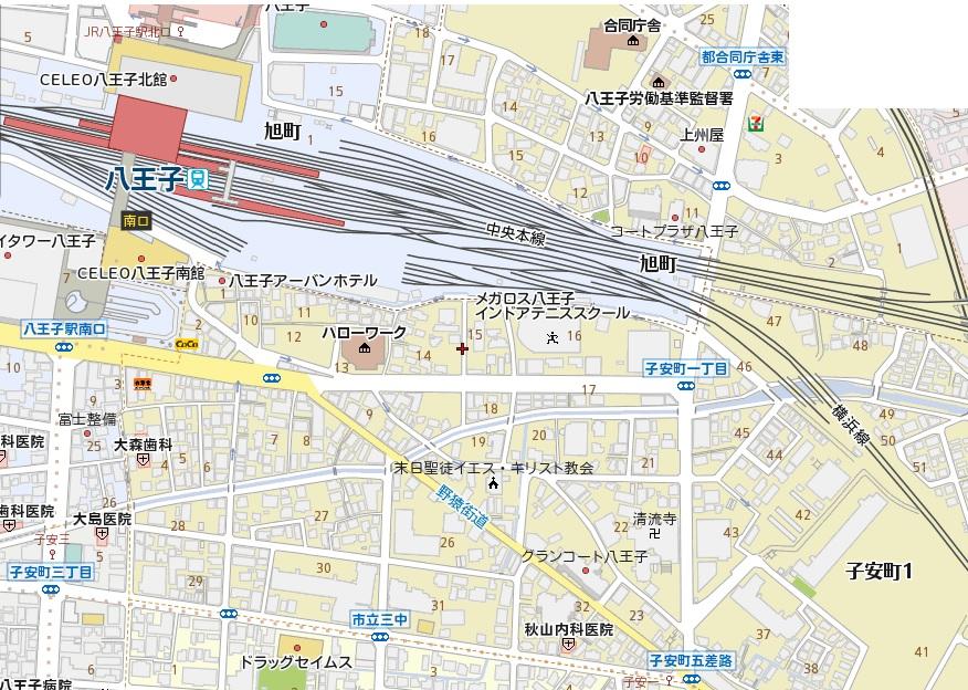 宅地分譲 全1区画 八王子市子安町 終了いたしましたマップ