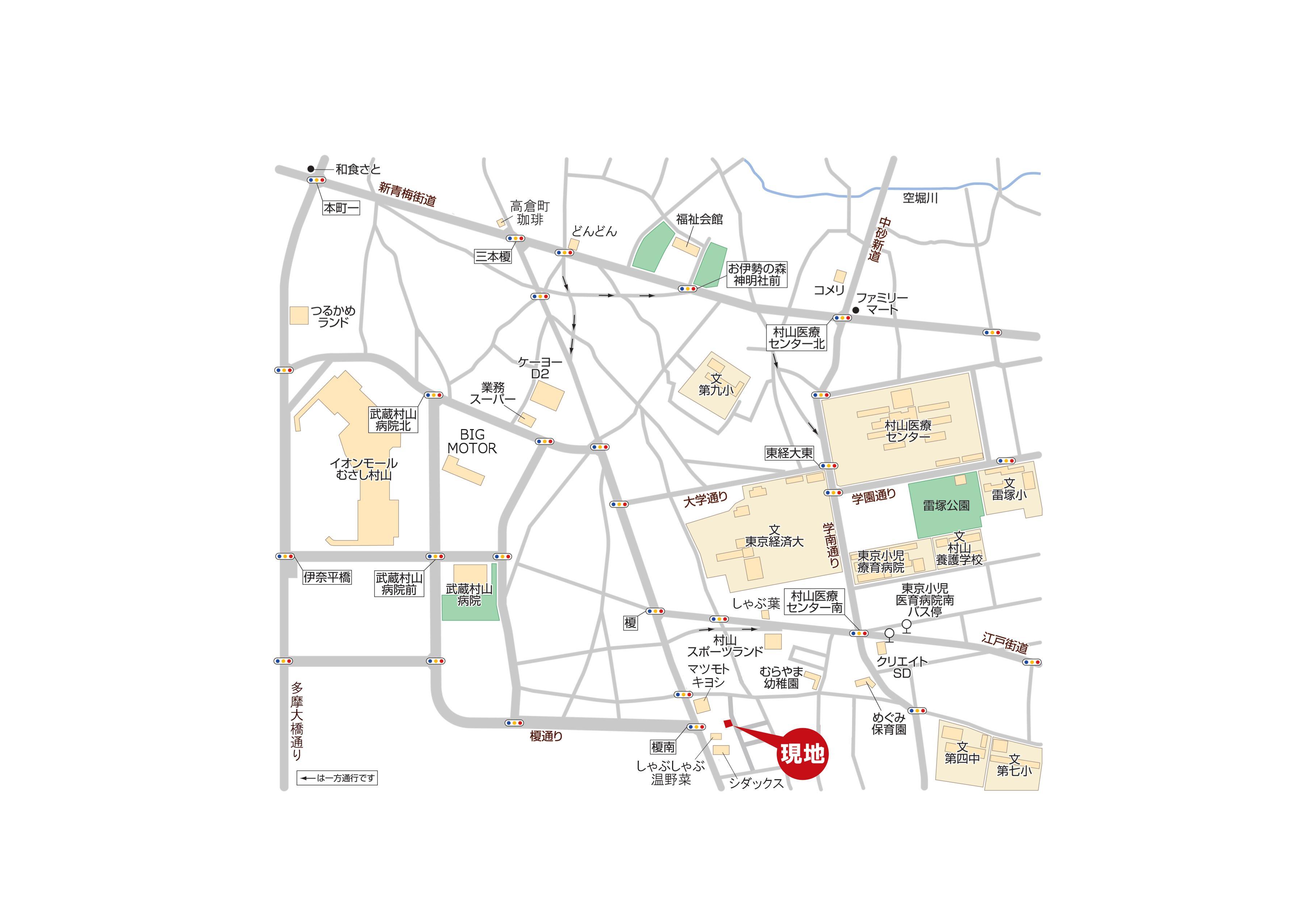 売 地 全1区画 武蔵村山市大南1丁目 終了いたしました。マップ