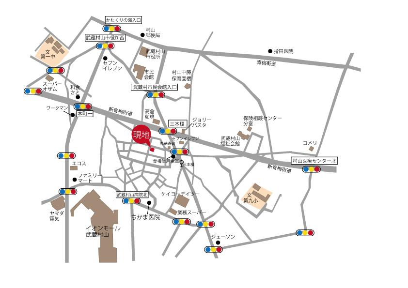 売 地 全1区画 武蔵村山市榎3丁目 終了いたしましたマップ