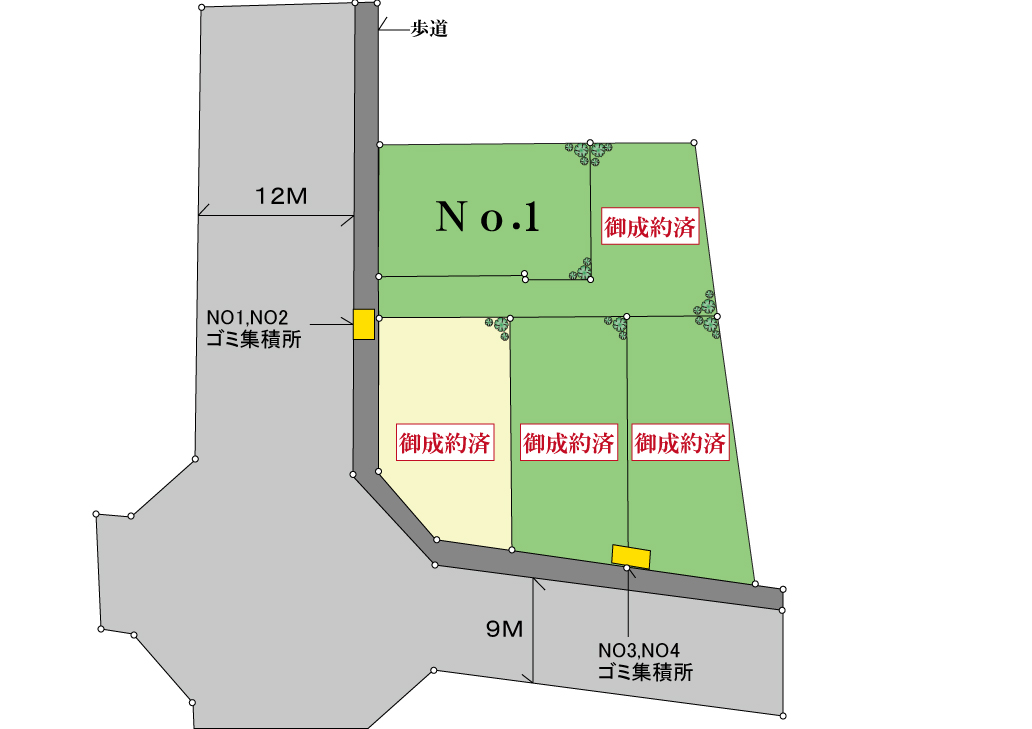 新築分譲住宅 全4棟 武蔵村山市中原2丁目 終了いたしました
