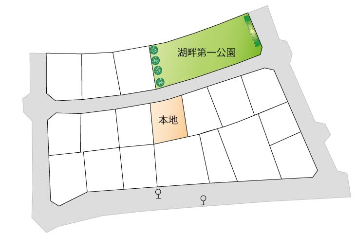 売り地 全1区画 東大和市湖畔2丁目 終了いたしましたマップ