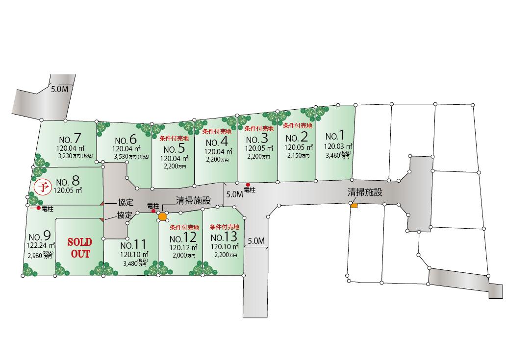 東大和市芋窪4丁目 新築、建築条件付売地 全13区画 新発売!