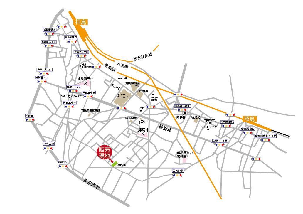 昭島市緑町2丁目  全1棟 終了となりましたマップ