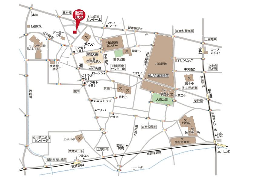 武蔵村山市学園1丁目  全13棟 終了となりましたマップ