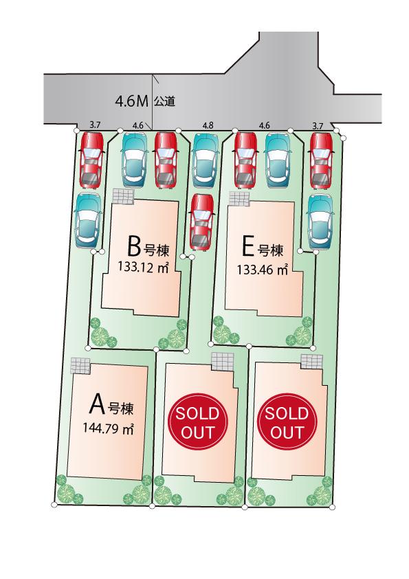 東大和市狭山4丁目 新築分譲住宅 全5棟 好評発売中!