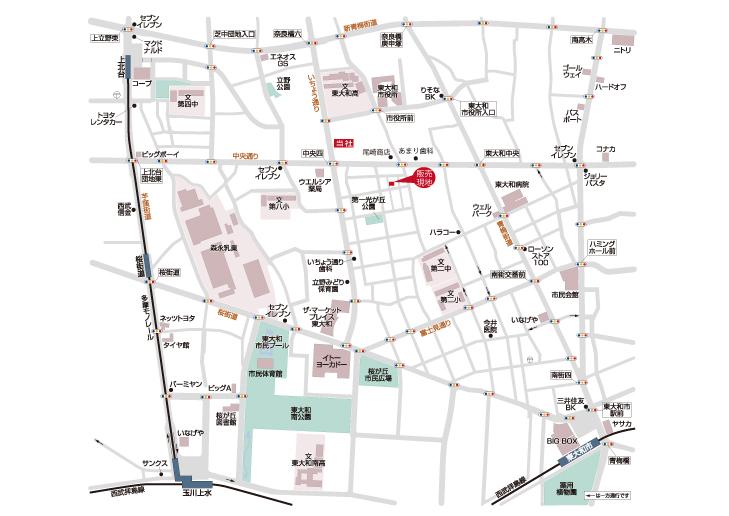 売地 東大和市南街3丁目 終了となりました マップ
