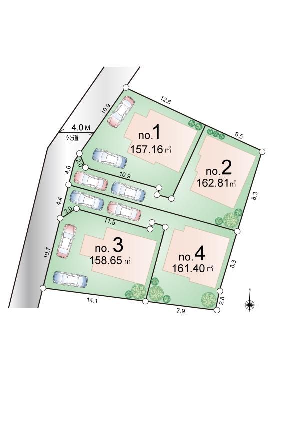 東大和市芋窪1丁目 新築分譲住宅 全4棟 販売予定!