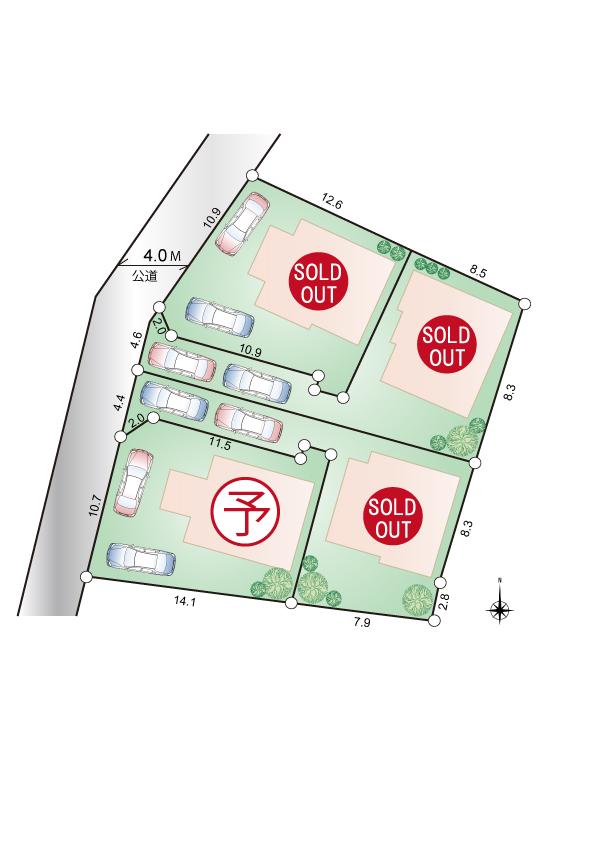 東大和市芋窪1丁目 新築分譲住宅 終了となりました