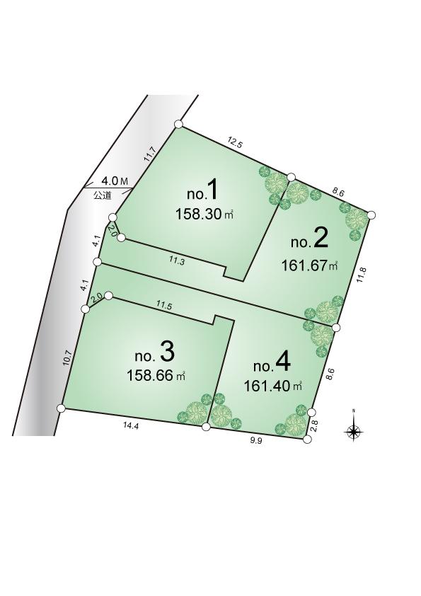 東大和市芋窪1丁目 建築条件付き 宅地分譲全4区画 販売予定!