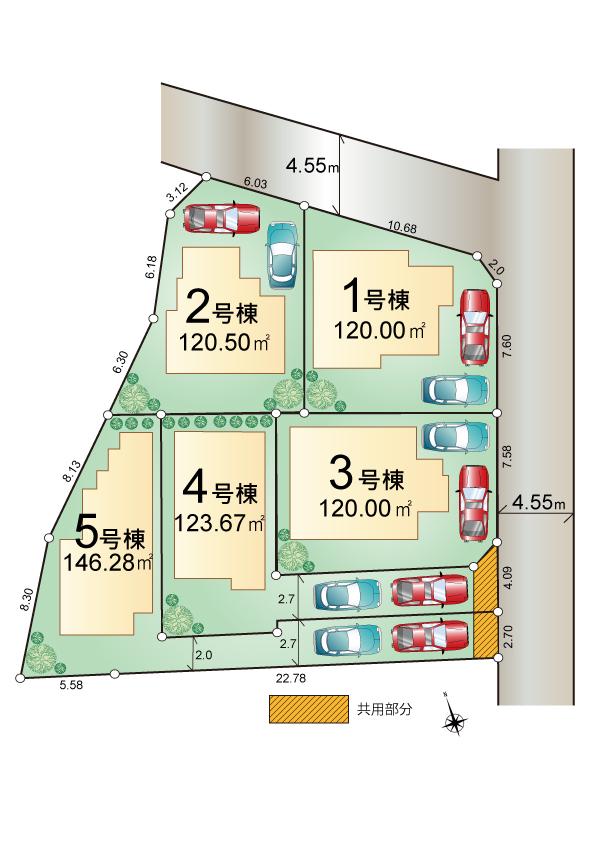 東大和市高木2丁目 新築分譲住宅 全5棟 販売予定!