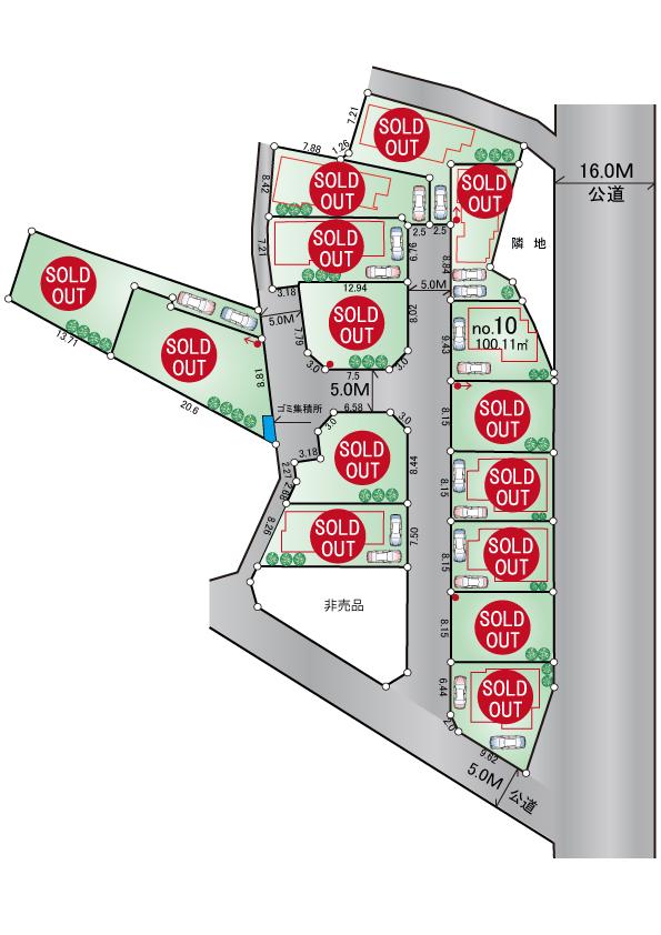 東大和市芋窪3丁目 新築分譲住宅全15棟 終了となりました