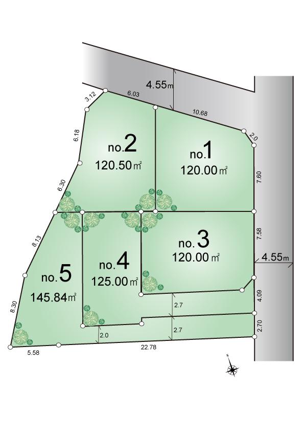 東大和市高木2丁目 建築条件付き 宅地分譲全5区画 販売予定!
