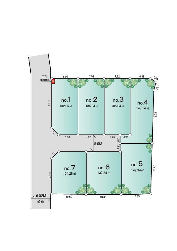 東大和市蔵敷2丁目 新築分譲住宅 全7棟 ※近日販売予定
