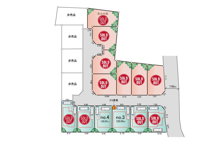 東大和市狭山5丁目 新築分譲住宅 全13棟 好評発売中!
