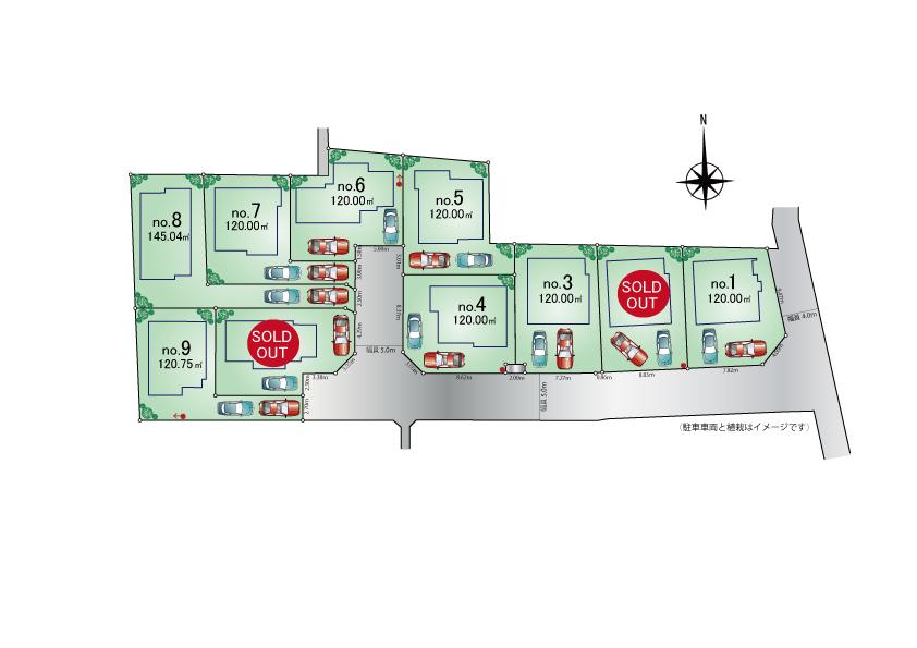 東大和市蔵敷2丁目 新築分譲住宅 全10棟 新発売!