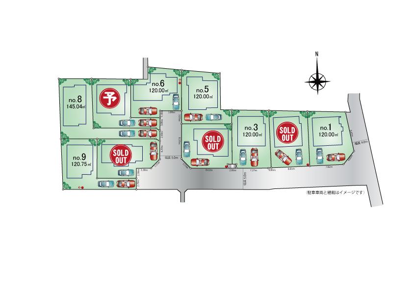東大和市蔵敷2丁目 新築分譲住宅 全10棟 好評発売中!