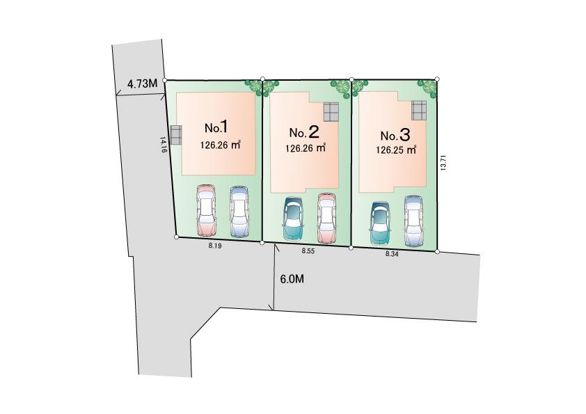 立川市砂川町8丁目 新築分譲住宅 全3棟 新発売!