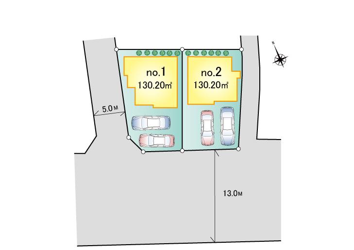 東大和市向原3丁目 新築分譲住宅 全2棟 新発売!