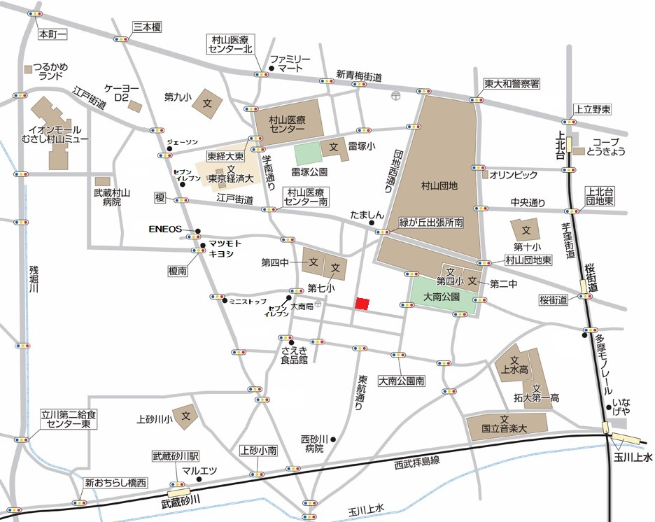 武蔵村山市大南2丁目 新築分譲住宅 全2棟 新発売!マップ